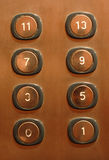 buttons evelator arkivbilder
