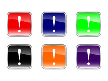 Buttons exclamation mark Stock Image