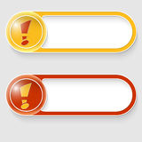 Buttons with exclamation mark Stock Photo