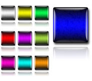 buttons exponeringsglas Arkivfoto