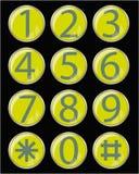 buttons exponeringsglas Royaltyfri Bild