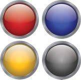 buttons exponeringsglas Royaltyfria Bilder