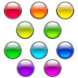 buttons exponeringsglas Royaltyfri Foto