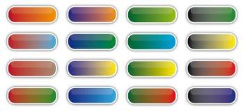 buttons exponeringsglas royaltyfri illustrationer