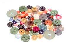buttons färgglatt royaltyfria bilder