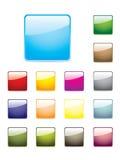 buttons färgglatt glansigt vektor illustrationer