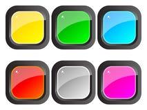 buttons färgrik blank rengöringsduk Fotografering för Bildbyråer