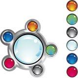 buttons färgrik fantasirengöringsduk Royaltyfri Foto