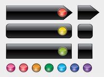 buttons färgrik lamparengöringsduk Arkivfoto