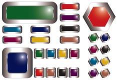 buttons färgrik metall Royaltyfria Foton