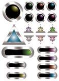 buttons färgrik metall Arkivbild