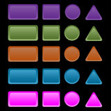 buttons färgrik rengöringsduk Arkivfoto