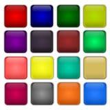 buttons färgrik rengöringsduk Royaltyfri Fotografi