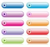 buttons färgrik setwebsite Royaltyfri Foto