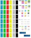 buttons färgrik sidarengöringsduk Arkivfoto