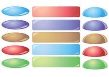buttons färgrika setvektorwebsites Royaltyfria Bilder