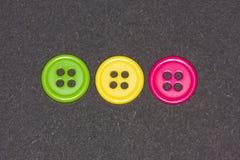 buttons färgrikt Fotografering för Bildbyråer