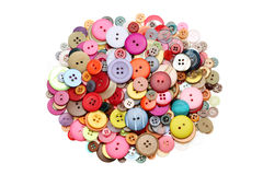 buttons färgrikt Royaltyfria Bilder