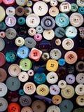 buttons färgrikt Arkivbild