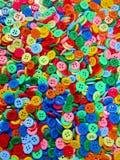 buttons färgrikt Royaltyfri Foto