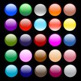 buttons färgrikt Royaltyfri Fotografi