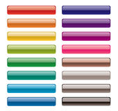 buttons färgrikt långt Arkivfoton