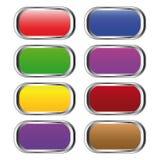 buttons färgseten Fotografering för Bildbyråer
