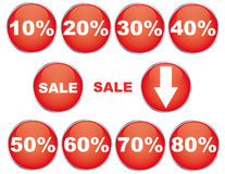 buttons försäljning Vektor Illustrationer