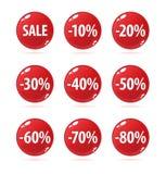 buttons försäljning Arkivfoto
