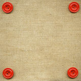 Buttons on fabric. As background Royalty Free Stock Photos