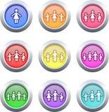 buttons familjen Fotografering för Bildbyråer