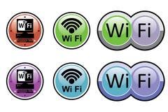 buttons fi-etikettswi vektor illustrationer