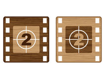 Buttons film strip. Wooden buttons film strip vector illustration Royalty Free Stock Photography