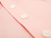 Buttons on a finest quality shirt Royalty Free Stock Image