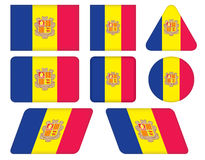 Buttons with flag of Andorra Stock Photo