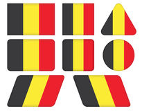 Buttons with flag of Belgium Royalty Free Stock Images