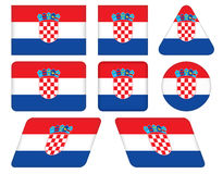 Buttons with flag of Croatia Stock Image