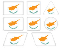 Buttons with flag of Cyprus Royalty Free Stock Photos