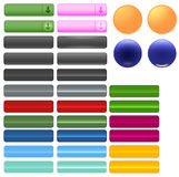 Buttons For Web Or Other Use. Royalty Free Stock Photos