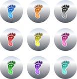 buttons fotspår stock illustrationer