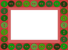 Buttons frame illustration. Vector illustration of a green buttons frame Royalty Free Stock Image