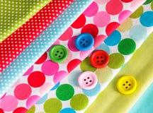 buttons färgrikt Arkivfoto