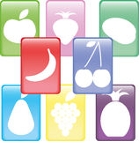 Buttons fruits Stock Photography