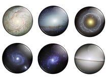 buttons galaxer vektor illustrationer