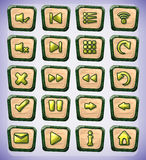 Buttons game art for game and animation Royalty Free Stock Photo