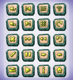 Buttons game art for game and animation Stock Photo
