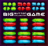 Buttons for game user interface. Concept designed glossy and bright menu elements. royalty free illustration