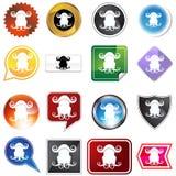 buttons gemini åtskilliga Arkivfoto