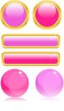 buttons glamour Royaltyfri Illustrationer