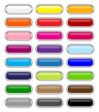buttons glansig rengöringsduk Royaltyfri Foto